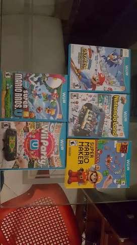 5 juegos originales nintendo Wii u