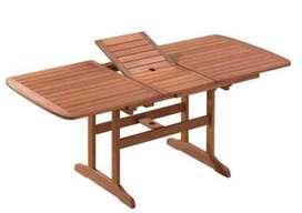 Mesa de madera extensible 150/200 x 90 cm