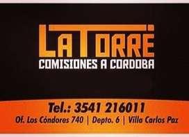 Comisiones a Córdoba- Carlos Paz -LATORRE-