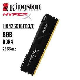 Memoria ram kingston hyperx fury ddr4 8gb bus 2666mhz