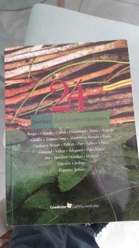 24 Poetas Latinoamericanos Borges Girondo Cabral Drummond