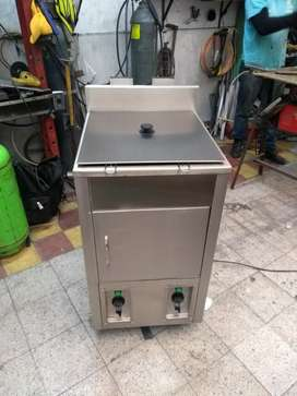 Freidora Industrial 30 Litros Acero Inox