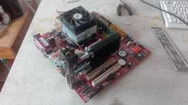 Board con Procesador AMD Athlom 64 dual Core 4000 y  AMD HD 5450