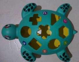 Tortuga  Didáctica.  juego de incrustar.  Tortuga figuras geométricas