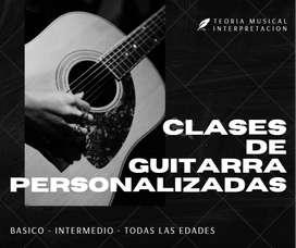 Clases de Guitarra Personalizadas - Bogota