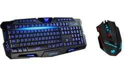 Combo Teclado Gamer M200+ Mouse Zelote 8 Botones 9200 Dpi