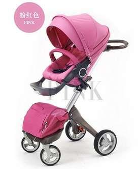Hermoso Coche de Lujo para bebe Color Rosa