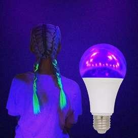 Bombillo led ultravioleta 12w uv luz negra neón fluorescentes hora loca