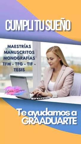 ASESORAMIENTO METODOLOGICO AYUDA MONOGRAFIAS TESIS MAESTRIA  EXAMENES