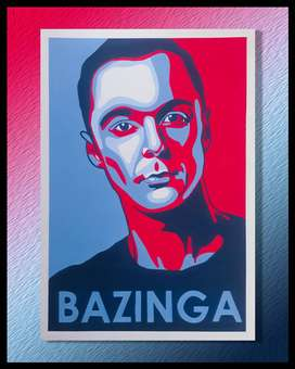 CUADRO DECORATIVO SHELDON COOPER THE BIG BANG THEORY