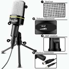 Micrófono Condensador Para Pc, Celular, Portátil + Trípode Sf-920