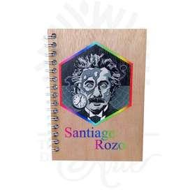 Cuaderno para personalizar tapas en madera impresión UV – Precio COP
