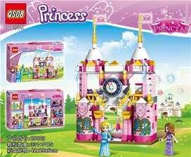 CASTILLO DE PRINCESAS ELSA Y ANNA FROZEN ARANDELLE LEGO PRINCESS VERSION PEQUEÑA JUGUETE
