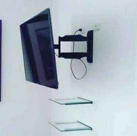 Soporte doble brazo para TELEVISOR instalacion inmediata.