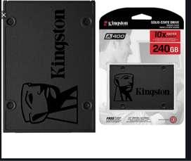 Disco Solido Sdd Kingston Sata 3 240gb + Padarsey Adaptadora Universal Para Disco Duro Sata 12 Mm
