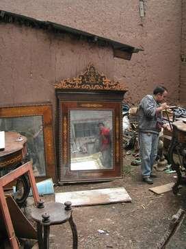 Espejo de estilo Reina Victoria, 1.70 x 1.25 m²