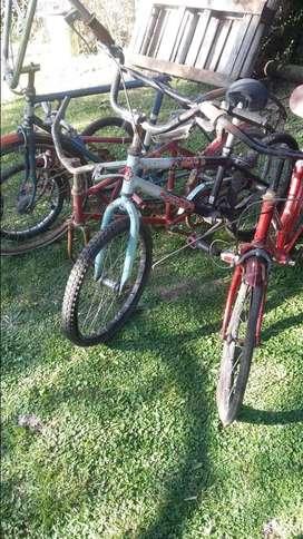 lote de 6 bicicletas a restaurar antiguas