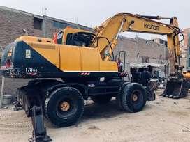 Vendo Excavadora Hyundai Robex 170w-3 operativo