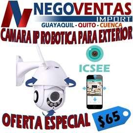 CAMARA IP ROBOTICA DE SEGURIDAD PARA EXTERIORES
