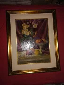 CUADRO CON marcos a la hoja pinturas medidas 55 cm por 69 cm, impecables listo para colgar.