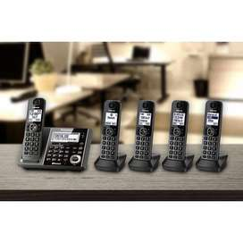 5 Telefonos Inalambricos Panasonic DECT 6.0 Bluetooth