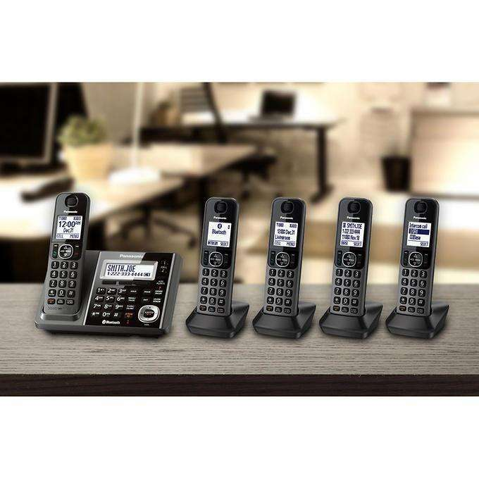 5 Telefonos Inalambricos Panasonic DECT 6.0 Bluetooth 0