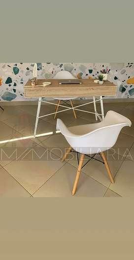 Silla Eames Con Apoyabrazos Comoda Blanca Moderna