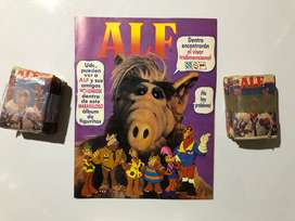 PACK 1 Álbum VACÍO + 2 paquetones (100 sobres) ALF 1989 Navarrete | NO taps hitazo dragon ball caballeros miniatura
