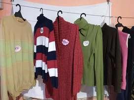 Suéters chaleco y camperita de mujer