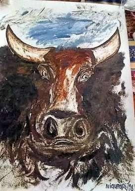 Vendo o Cambio Pintura Ñaupari Acuarela 70x50