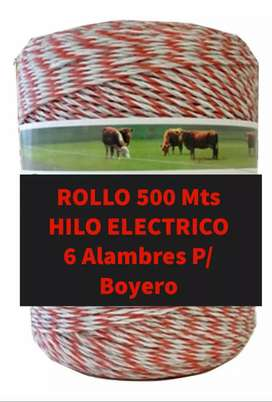 Rollo hilo electroco 500 mts (6 alambre) para boyeros
