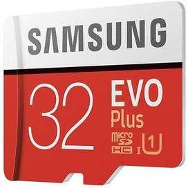 Samsung EVO Plus 32GB Memoria Micro SD U1 (95Mbps R/20Mbps W) GRABA FULL HD