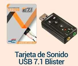 TARJETA DE SONIDO 7.1 USB