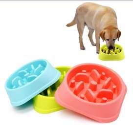 Comedero o plato de alimentación lenta para Perros Azul