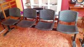 Muebles para sala de espera.Ideal para consultorios,banco,colegio o centros de atención al público en general.