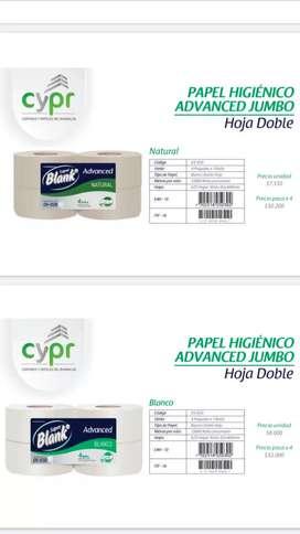 Papel higiénico institucional