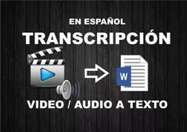 Transcripcion audio a texto