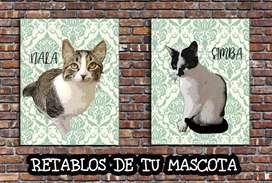 Cuadros personalizados perros y gatos