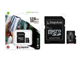 Tarjeta de Memoria Micro Sd 128gb Kingston Clase 10 Original Android HD FHD 4K