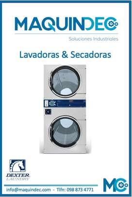 LAVADORAS Y SECADORAS INDUSTRIALES DEXTER.