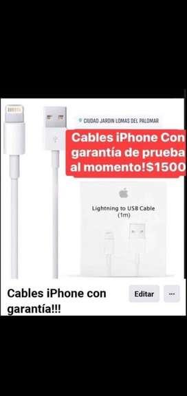 Cable o cargardor iphone con garantia!