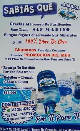 Agua San Marino S.A Venta de agua 100% purificada de la mejor calidad