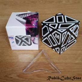 Cubo Rubik Ghost Cube Ninja Ghostcube Sticker M Blanco Negro