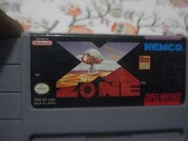VENTA DE Juego Nintendo X Zone Super Nintnendo Snes Original Excelent