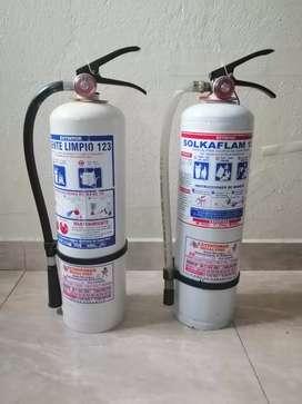Extintores agente limpio.