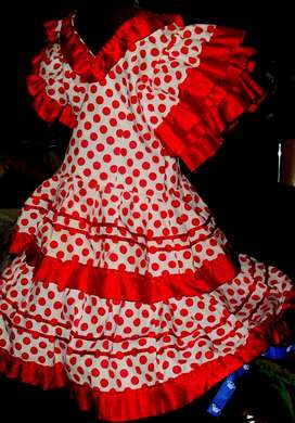 vestido nena español baile danzas flamenco liniers capital