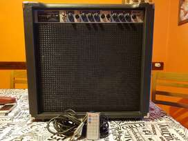 Amplificador Decoud 40w sin uso, bluetooth, tarjeta sd, USB y radio FM