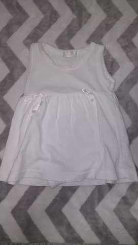 Vestido ropa bebé beba talle de 0 a 3 meses
