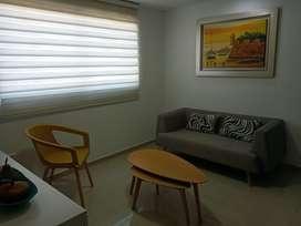 Se arrienda apartamento de una sola habitacion, sala, cocina abierta, zona de labores, parqueadero. Un cuarto y un baño.