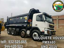 VOLQUETE VOLVO FMX480 AÑO 2014